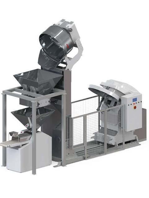 Automated mixing system FEEDING HOPPER MIX