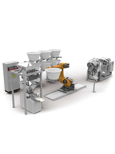 Automatized system for dough resting bowl